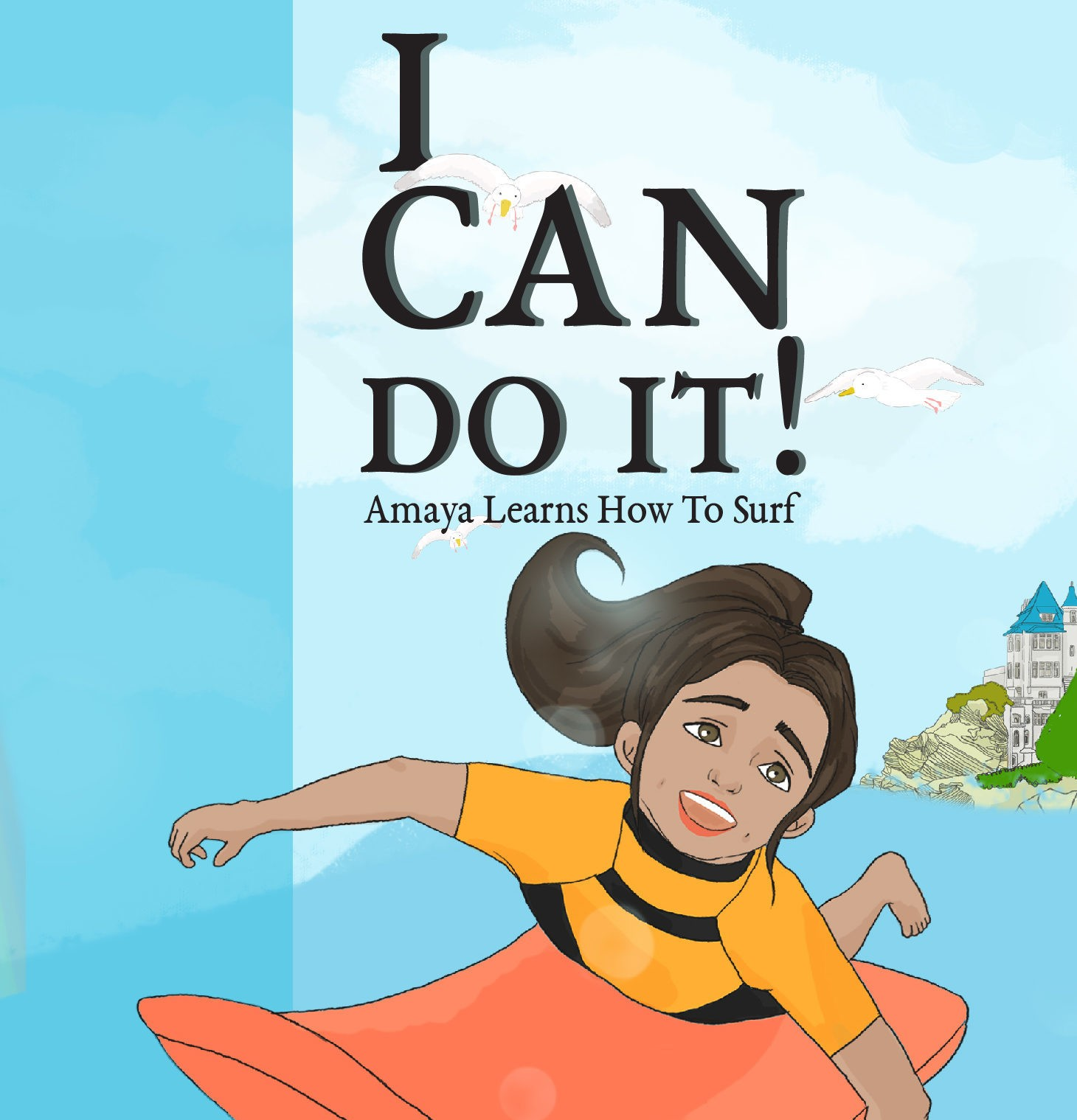 I CAN DO IT! – Amaya learns how to surf